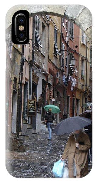 Umbrella Day Portovenere Italy IPhone Case