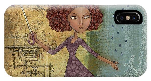 Umbrella iPhone Case - Umbrella Girl by Karyn Lewis Bonfiglio
