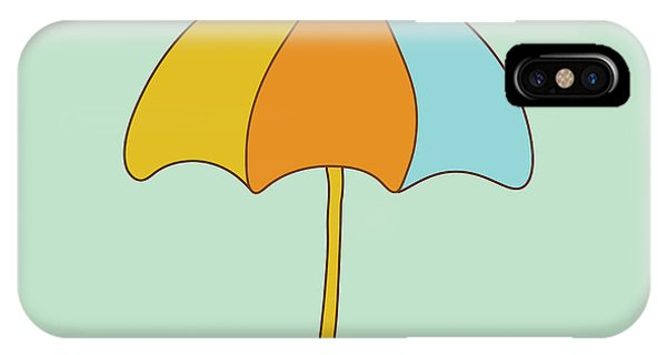 Ripples iPhone Case - Umbrella by Paduk