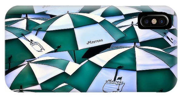 Umbrellas At The Masters IPhone Case
