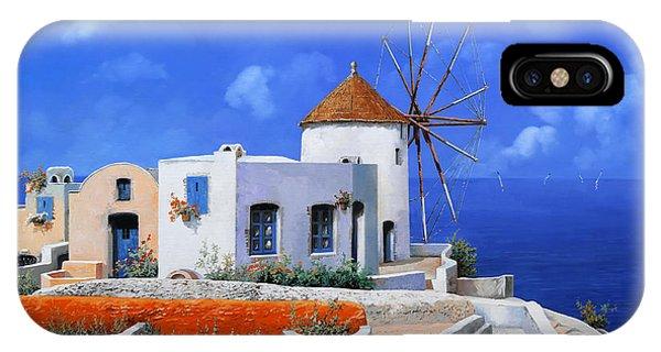 Windmill iPhone Case - un mulino in Grecia by Guido Borelli