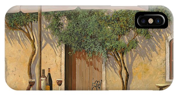 Wine Glass iPhone Case - Un Ombra In Cortile by Guido Borelli