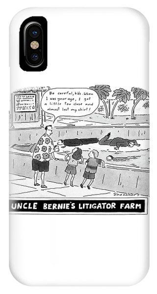 Uncle Bernie's Litigator Farm Be Careful IPhone Case