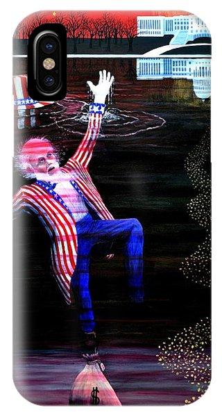 Debts iPhone Case - Uncle Sam 2012 - ? by Thomas Britton