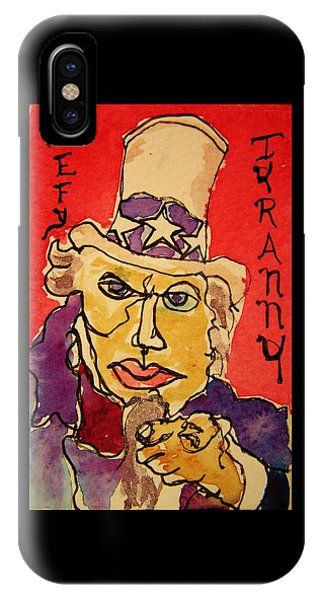 Uncle Sam Defy Tyranny IPhone Case