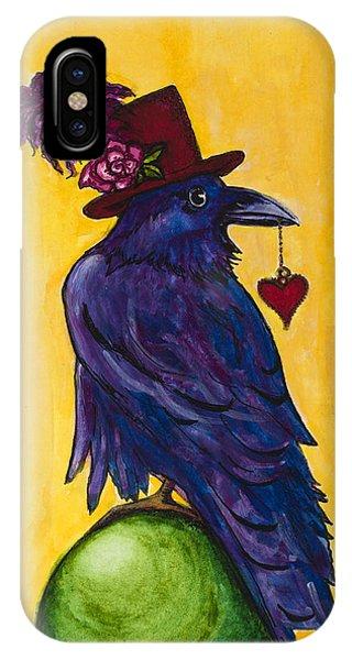 Uncommon Raven Love 1 IPhone Case