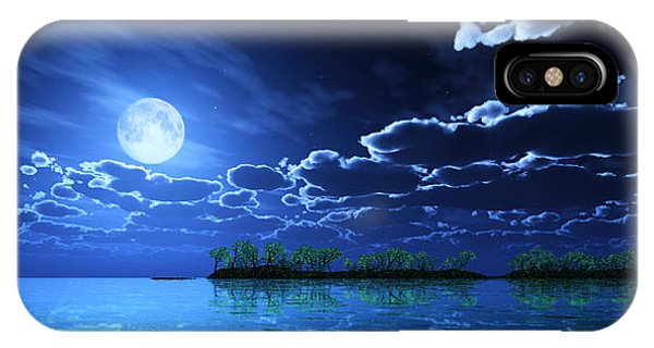 Under A Silvery Moon... IPhone Case