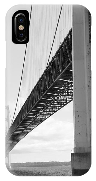Under Mighty Mac Lake Michigan Black And White IPhone Case