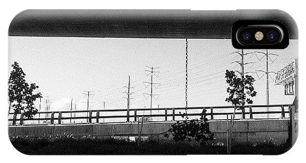 City Scape iPhone Case - Under The Bridge by Dorit Stern