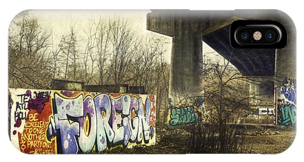 Industrial iPhone Case - Under The Locust Street Bridge by Scott Norris
