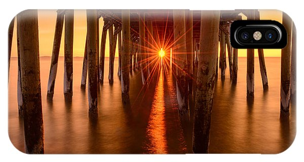 Orchard Beach iPhone Case - Under The Pier by Michael Blanchette