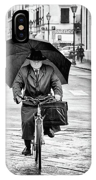 Coat iPhone Case - Under The Rain by Massimo Della Latta