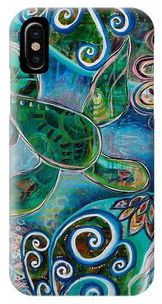 Turtle iPhone X Case - Under The Sea by Amber Malarsie Moritz