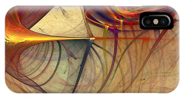Fractal Landscape iPhone Case - Under The Skin-abstract Art by Karin Kuhlmann