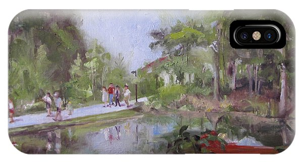 Under The Willows In The Crystal Bridges Pond IPhone Case