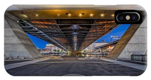 Zakim Bridge iPhone Case - Underneath The Zakim Bridge by Susan Candelario