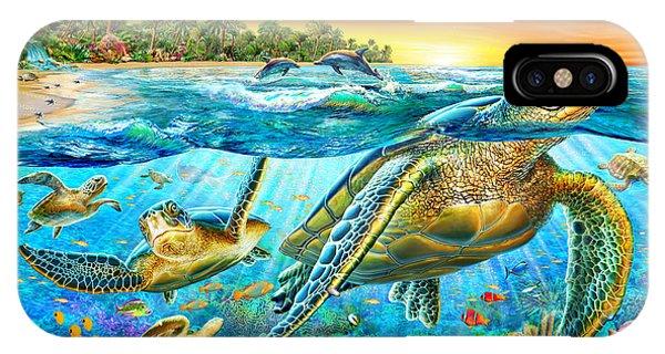 Reef iPhone Case - Underwater Turtles by MGL Meiklejohn Graphics Licensing