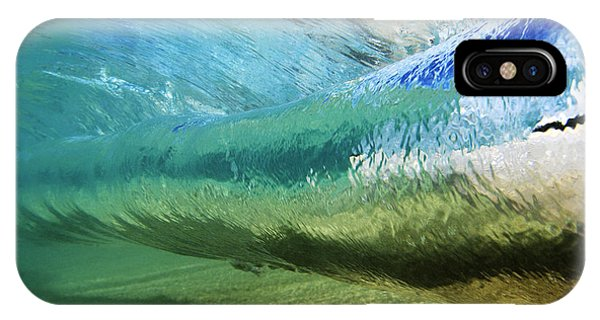 Aqua iPhone Case - Underwater Wave Curl by Vince Cavataio - Printscapes