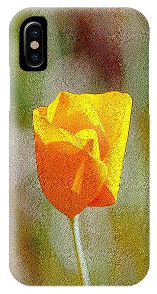 Unfolding Poppy IPhone Case