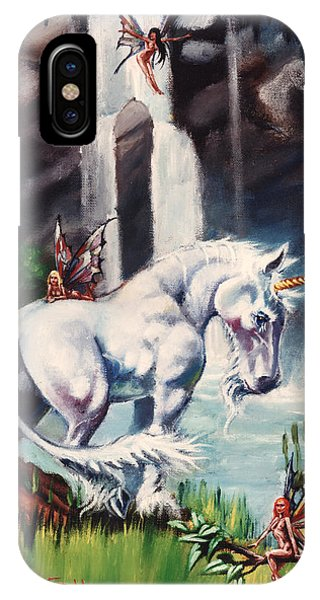 Unicorn Spring Phone Case by T Ezell