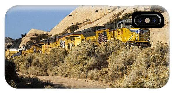 Union Pacific Rolling Through The Mormon Rocks IPhone Case
