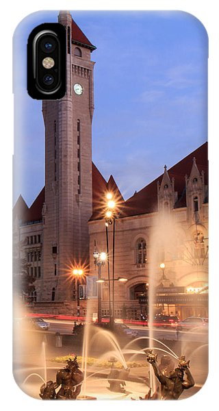 Union Station In Twilight IPhone Case