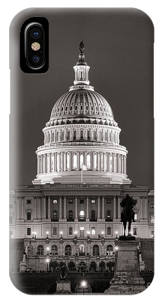 United States Capitol At Night IPhone Case