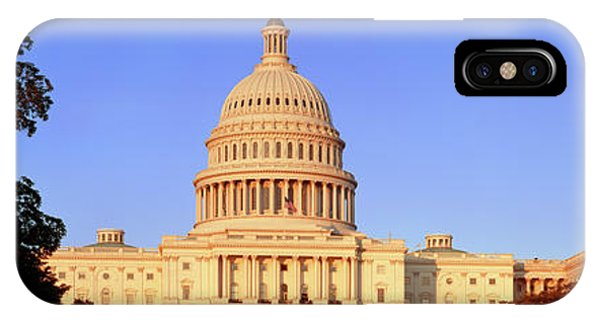 Capitol Building iPhone Case - United States Capitol Building by Panoramic Images