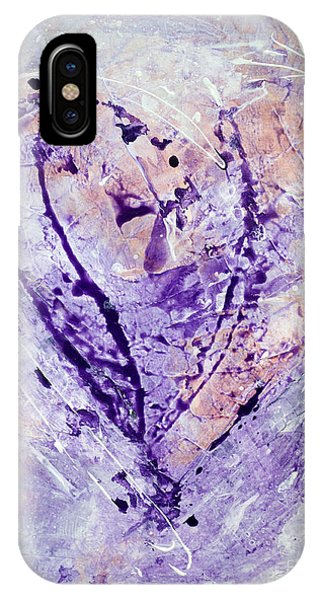 Universal Heart Pastel Purple Lilac Abstract By Chakramoon Phone Case by Belinda Capol