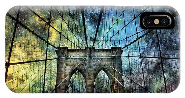 Universe And The Brooklyn Bridge IPhone Case