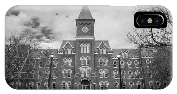 University Hall Black And White IPhone Case