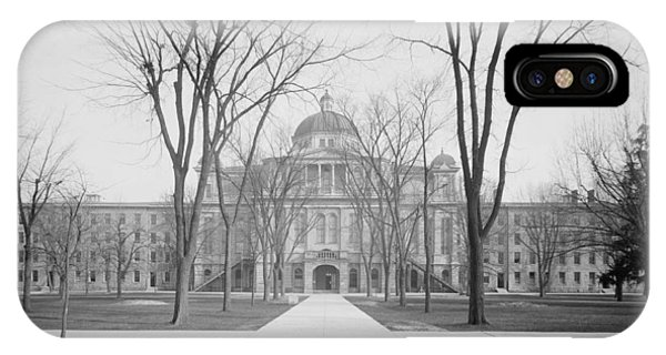 University Hall, University Of Michigan, C.1905 Bw Photo IPhone Case
