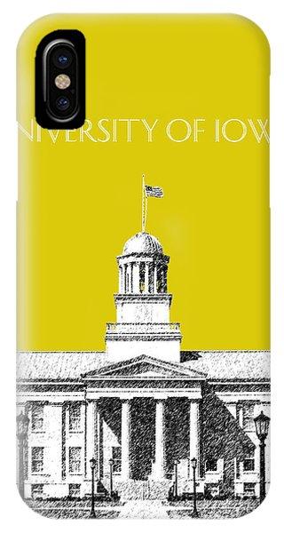 University Of Iowa - Mustard Yellow IPhone Case