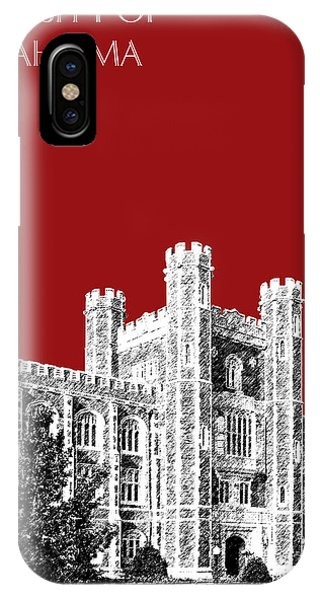 Oklahoma University iPhone Case - University Of Oklahoma - Dark Red by DB Artist
