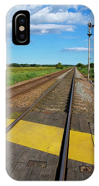 Railroad Signal iPhone Case - Unmanned Railway Crossing by Mark Williamson/science Photo Library