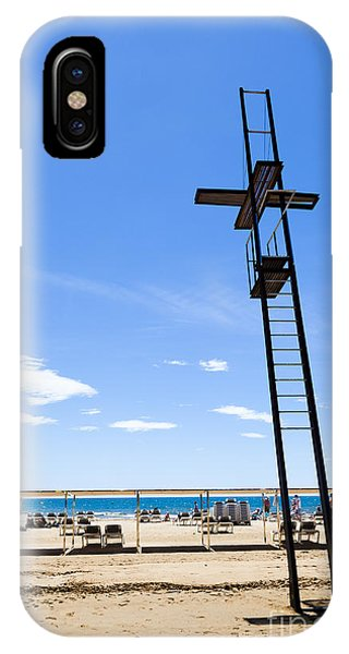 Unoccupied Lifeguard Platform On  The Beach  IPhone Case