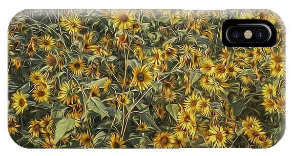 Untamed Sunflowers IPhone Case