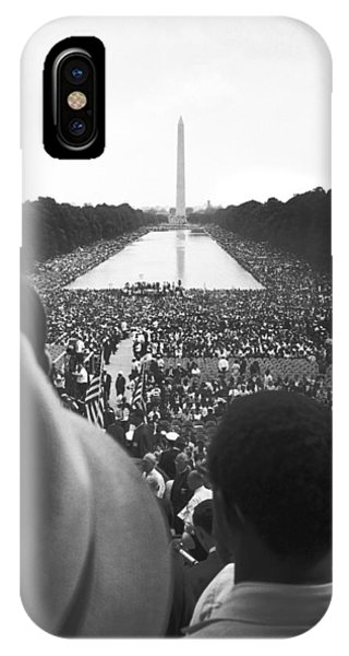 Lincoln Memorial iPhone Case - 1963 March On Washington by Underwood Archives