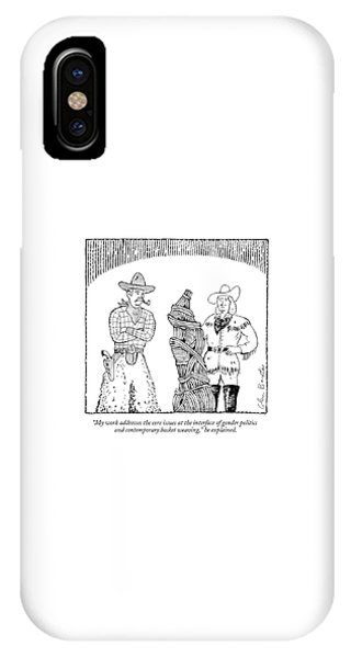 My Work Addresses The Core Issues IPhone Case