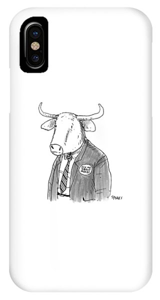 Minotaur iPhone Case - New Yorker October 24th, 2016 by Rich Sparks