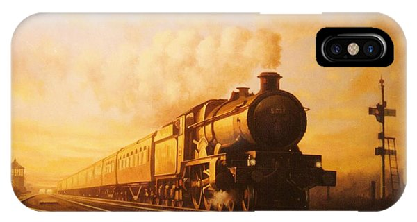 Train iPhone Case - Up Express To Paddington by Mike Jeffries