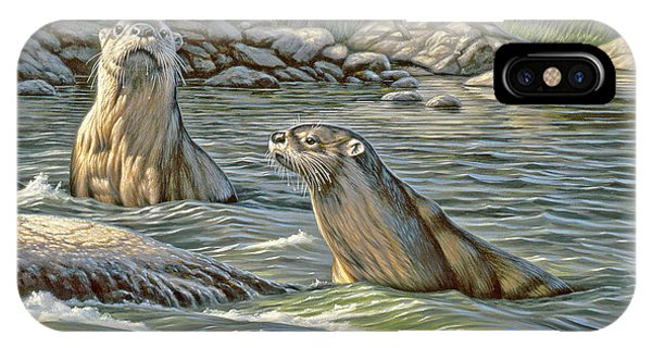 Up For Air - River Otters IPhone Case