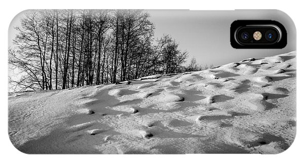 Up To The Hill Bw IPhone Case