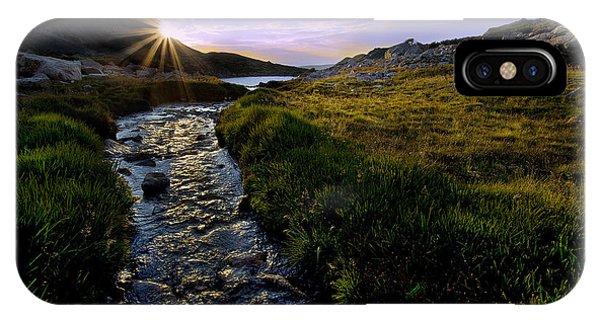 Indian Peaks Wilderness iPhone Case - Upper Blue Sunrise by Steven Reed