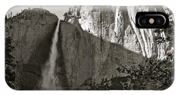 Upper Yosemite Falls Composition In Triangles IPhone Case