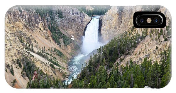 IPhone Case featuring the photograph Lower Falls by Jeff Loh