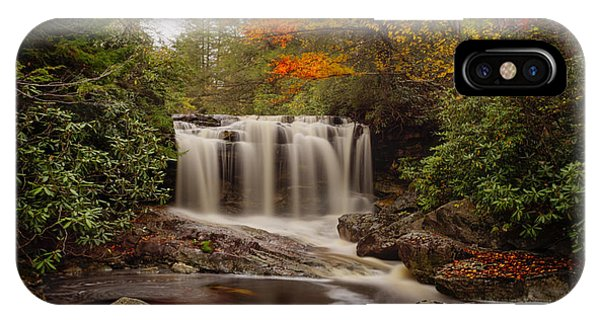 Upper Falls Waterfall On Big Run River  IPhone Case