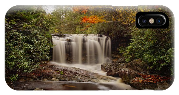 IPhone Case featuring the photograph Upper Falls Waterfall On Big Run River  by Dan Friend