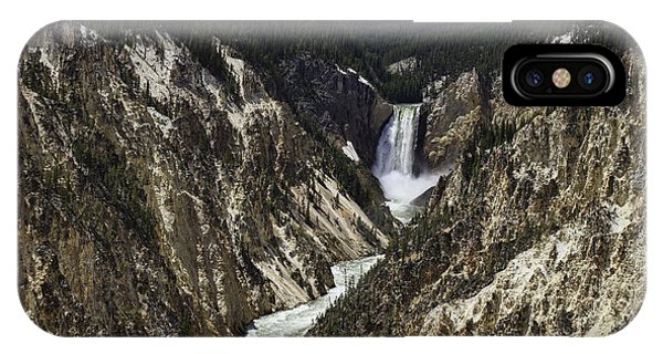 Lower Falls Of Yellowstone River IPhone Case