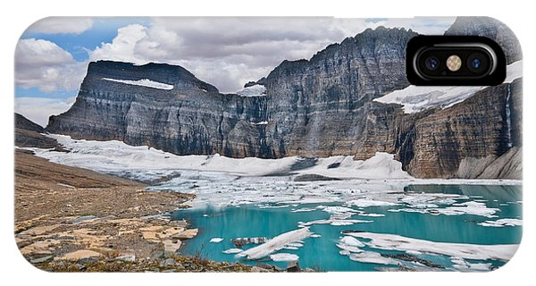Upper Grinnell Lake And Glacier IPhone Case